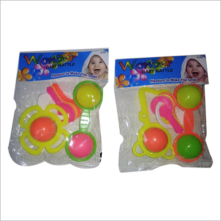 Plastic 3 Piece Rattle