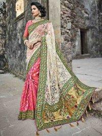Multicolor Silk Thread Wedding & Bridal Wholesale Designer Saree