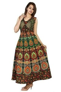 Rajasthani Printed Maxi Jacket Long Dress