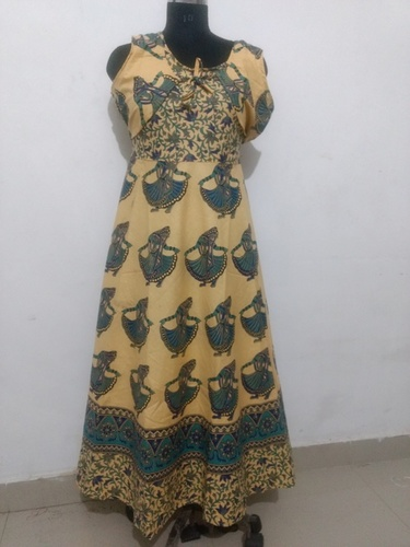 Traditional Jaipuri Maxi Long Cotton Dress