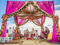 Bollywood Fabric Wedding Mandap