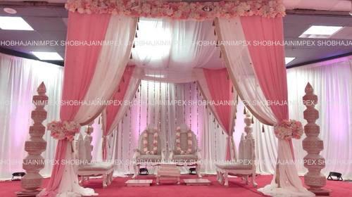 Designer Fabric Wedding Mandap
