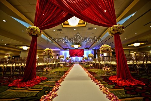 Beautiful Fabric Wedding Mandap