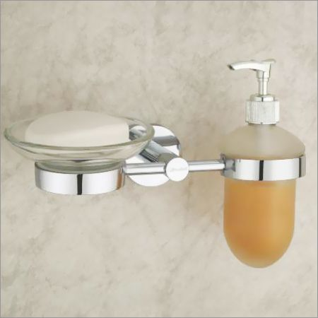 Brass Soap Dish With Liquid Dispenser