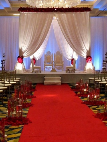 Asian Fabric Wedding Mandap