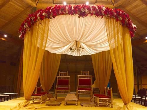 Round Fabric Wedding Mandap