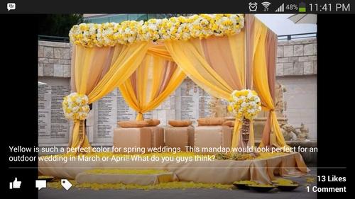 Classic Fabric Wedding Mandap
