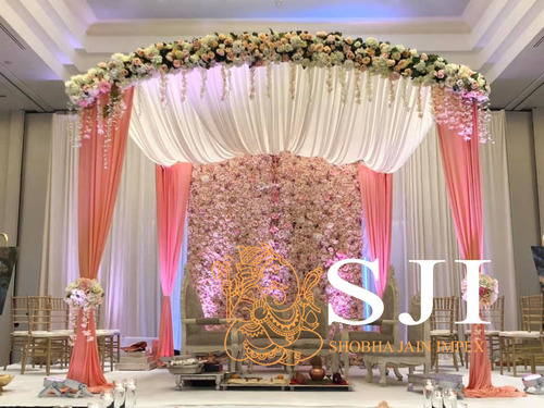 Elegant Fabric Wedding Mandap
