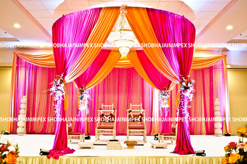 Traditional Fabric Wedding Mandap