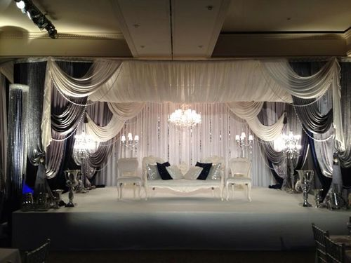 Grey Fabric Wedding Mandap