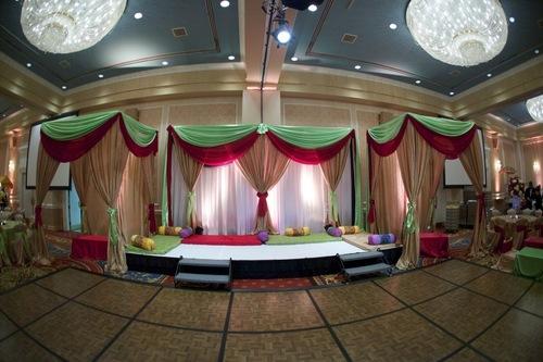 Colourful Fabric Wedding Mandap