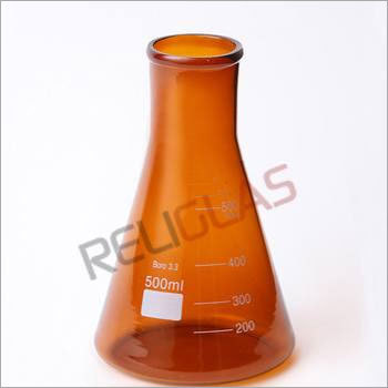 02.306 Conical Flask, Erlenmeyer, AMBER