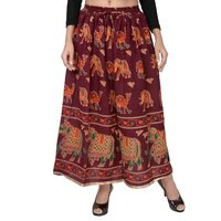 Cotton Printed Jaipuri Skirts