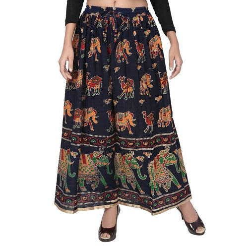 Printed Cotton Jaipuri Skirts