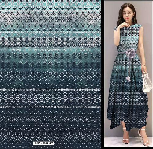 Viscose Korean Ggt Digital Print Fabric