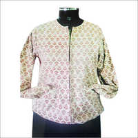 Ladies Block Print Jacket