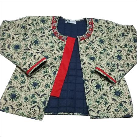 Ladies Hand Block Print Waistcoat