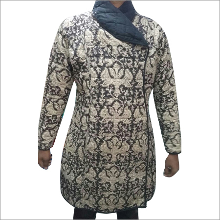 Ladies Hand Block Print Quilted Jacket