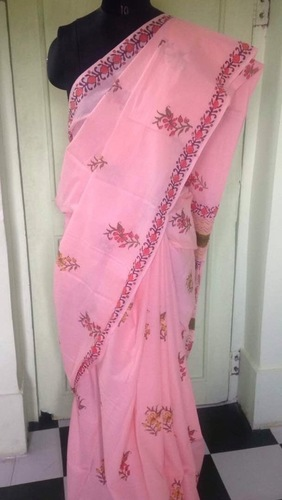 Hand Printed Cotton Sarees