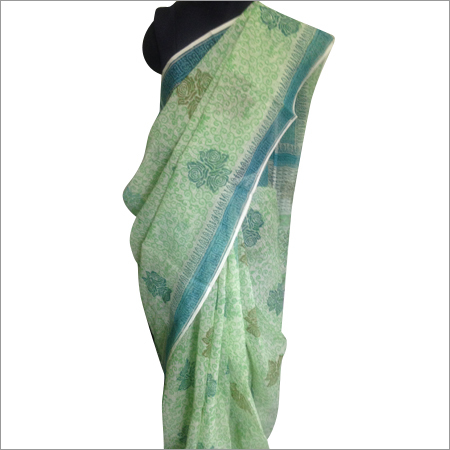 Floral Printed Voile Sarees