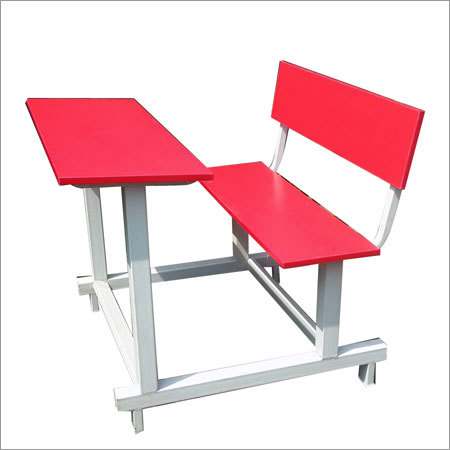 Red School Bench