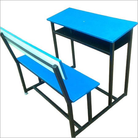Blue School Bench