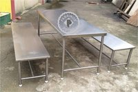Stainless Steel Table and Benches