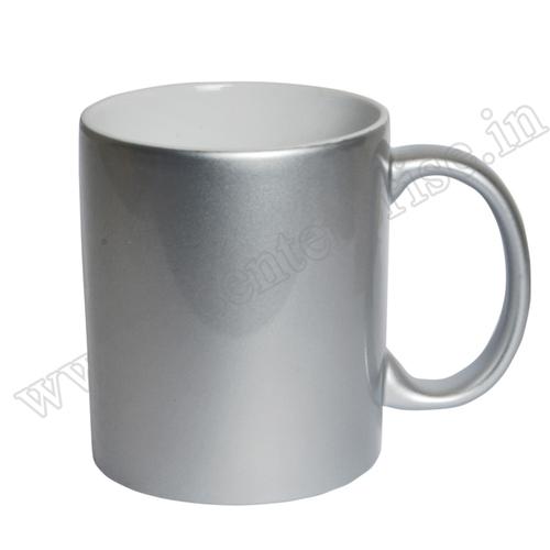 11oz Silver Mug