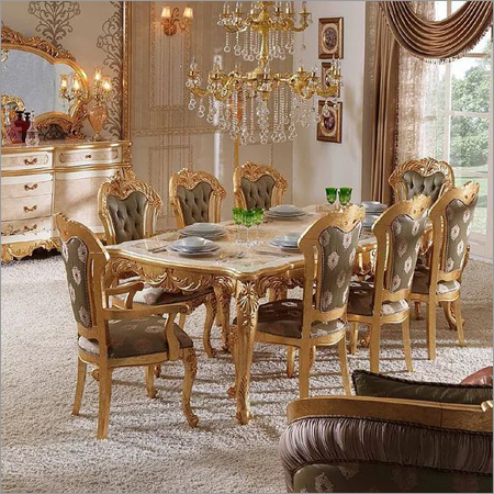 Gold Leaf Dining Table