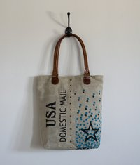 USA Star Printed Canvas bag