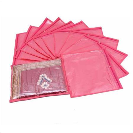 Non Woven Single Saree Cover (Pink)