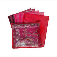Non Woven Single Saree Cover (Red)
