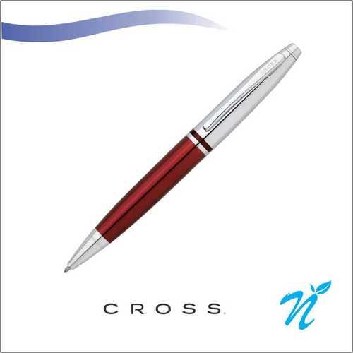 Calais Chrome/Red Ball Point Pen