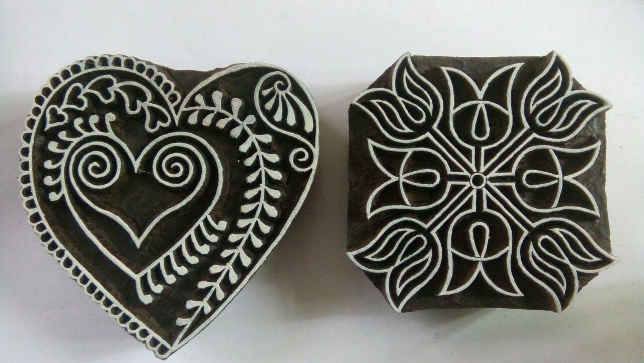 Wooden Printing Blocks MIX SET 3