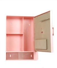 Bathroom Cabinet Sliding Pink