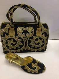 New Design Party Wear Shoe And Bag For Woman