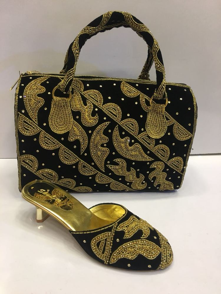 Partywear Women's Sandal & Matching Bags