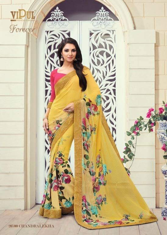 Fancy Designer Georgette Print Saree