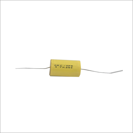 4.7-10-250Vac Axial Capacitors