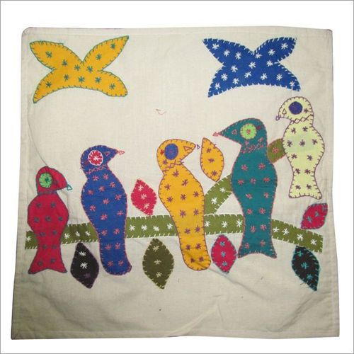 Embroidered Elegant Cushion Cover