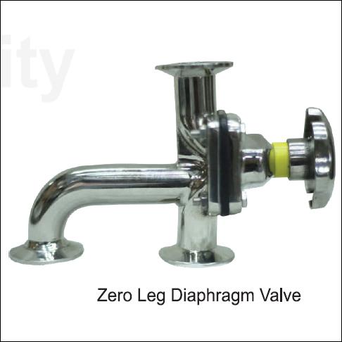 Zero Ded Leg Diaphragm Valve