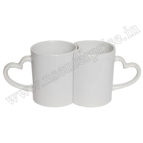 Ceramic 11Oz White Couple Mug