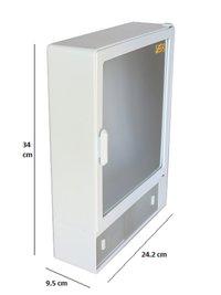 14410 Bathroom Cabinet Sliding White