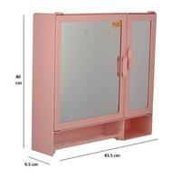 17416 Bathroom Cabinet D-Rod Pink