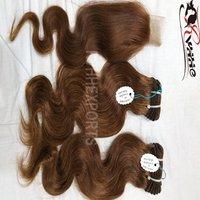 Cuticle raw human hair extensions