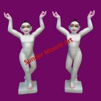 Marble Gaura Nitai Statue