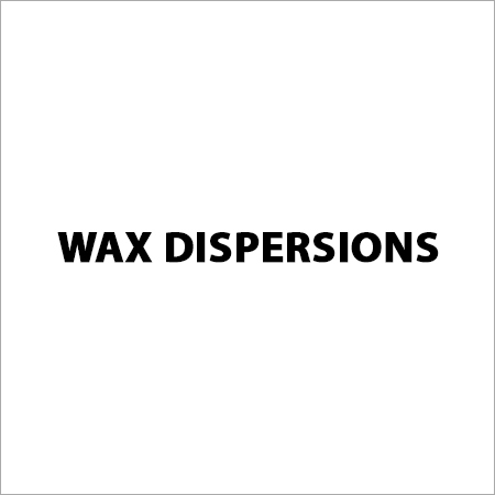 Wax Dispersions