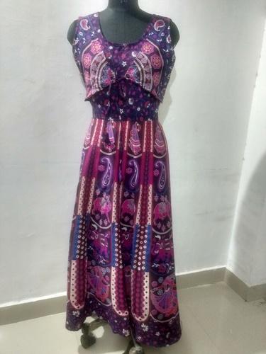 Rajasthani Printed Maxi Style Long Jacket Dress