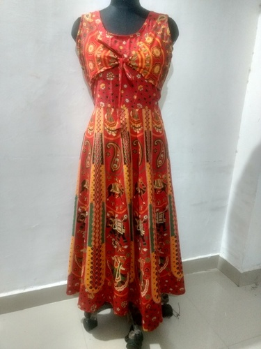 Jaipuri Printed Koti Dress