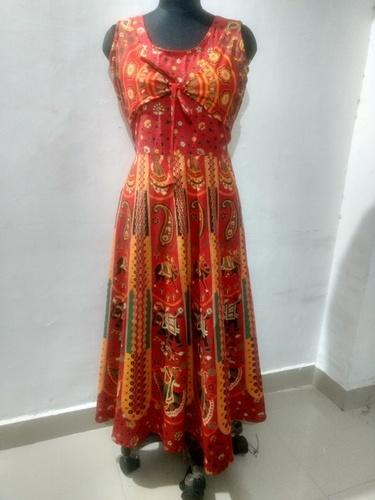 Jaipuri Printed Koti Dress